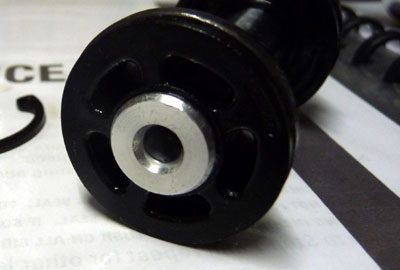 Close-up of port end of SID Race rebound damper