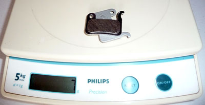 A2Z ultralight pads (aluminum backed) weighing 7g on my scale