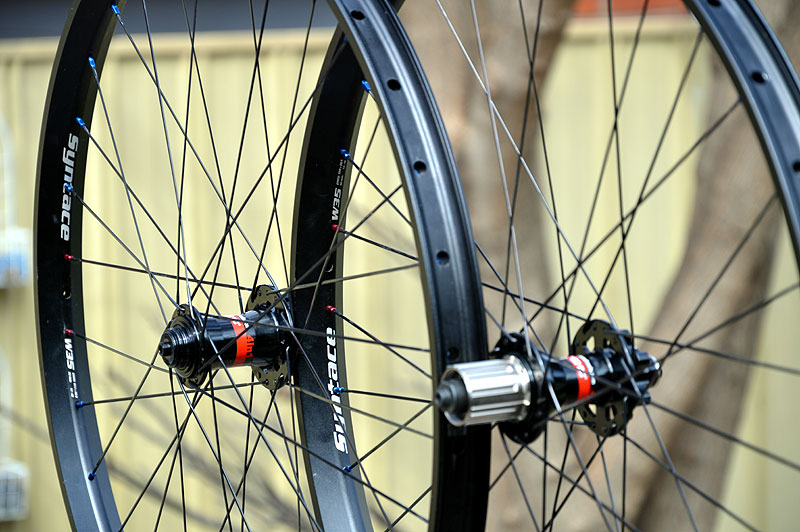 Syntace W35 wheelset built with CX-Rays and Novatec 881/882 hubs